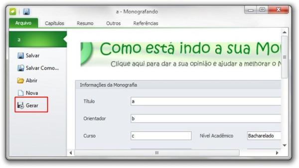 software monografando