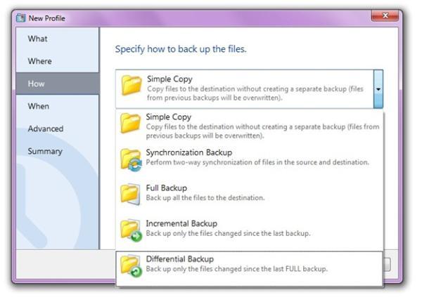 Escolhendo um método de backup