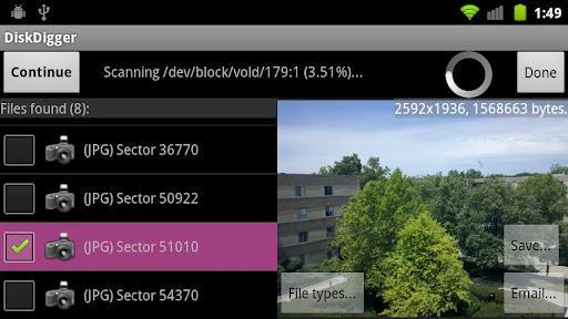 DiskDigger - Imagem 1 do software