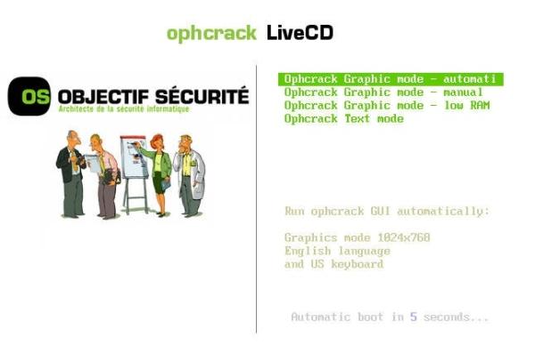 Ophcrack LiveCD - Imagem 1 do software
