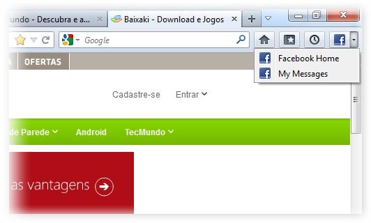 Facebook Bookmarks - Imagem 1 do software