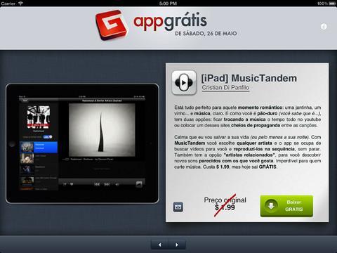 AppGrátis para iPad - 1 app grátis para iPad todo dia - Imagem 1 do software