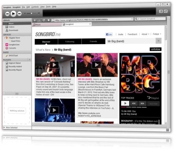 Songbird - Imagem 1 do software