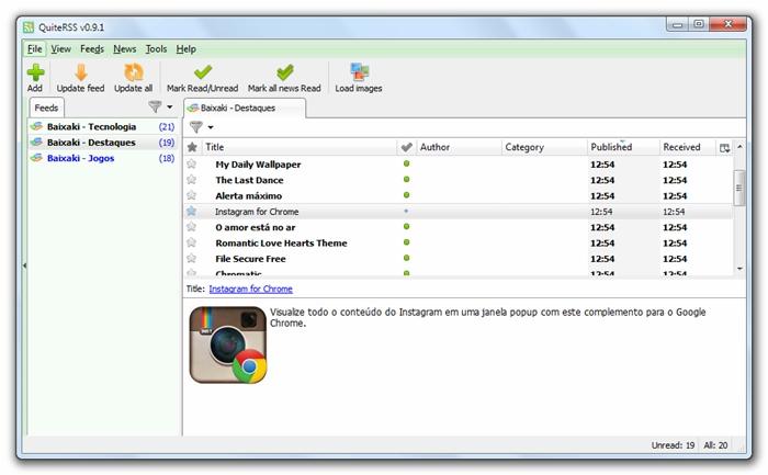 QuiteRSS - Imagem 2 do software