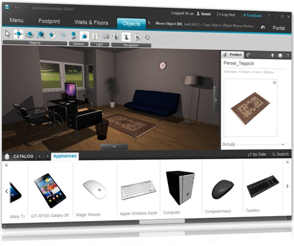 Roomeon 3D-Planner - Imagem 1 do software