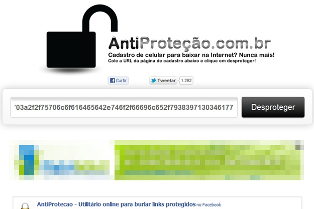 AntiProteção - Imagem 1 do software