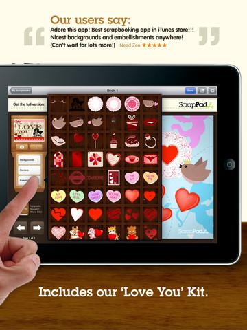 ScrapPad Valentine`s Day Scrapbooking - Imagem 1 do software