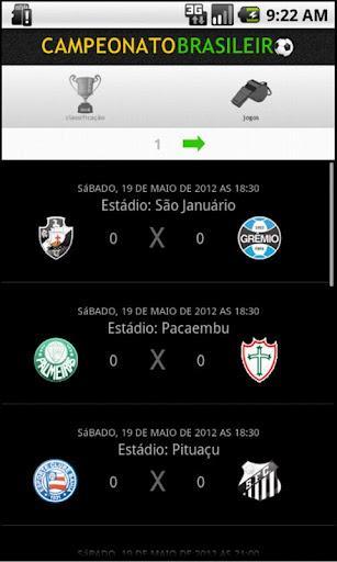 Campeonato Brasileiro 2012 by Dataminas - Imagem 2 do software