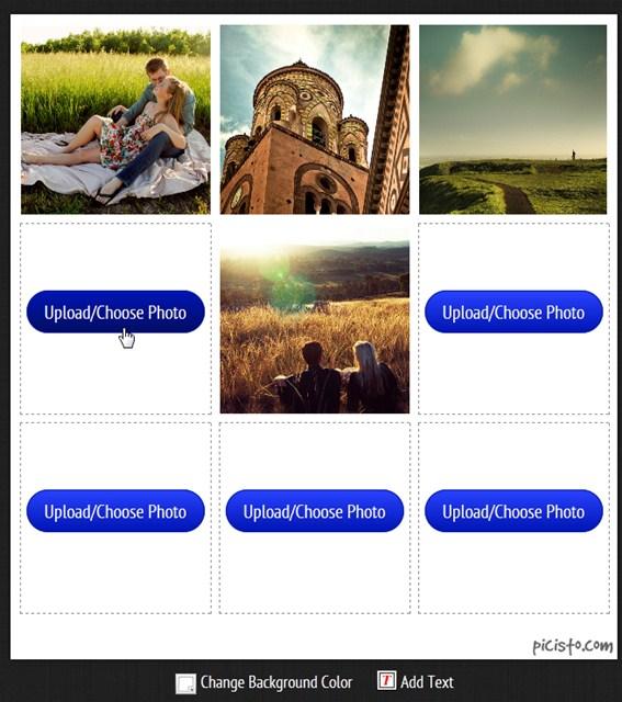 Escolha todas as fotos do layout.