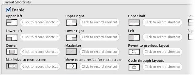 Configure atalhos para organizar as janelas