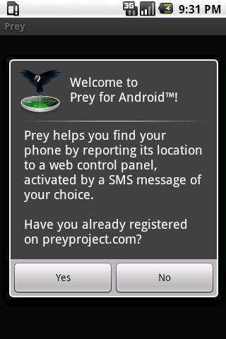 Prey Anti-Theft - Imagem 1 do software