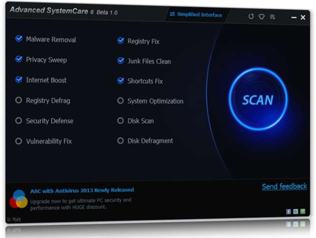 Advanced SystemCare 6 Beta.