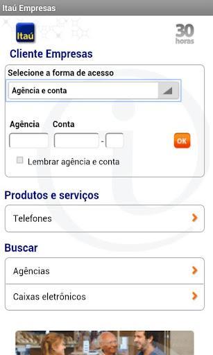 Itaú Empresa - Imagem 2 do software