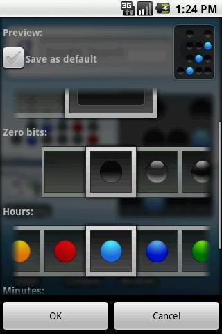 Binary clock widget - Imagem 2 do software