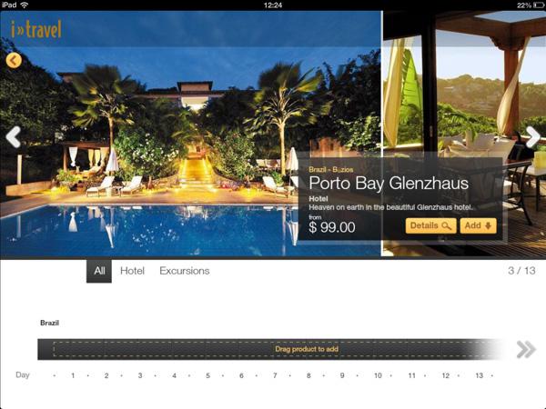 Confira as opções de hotéis cadastrados no app