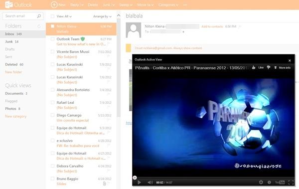 A pré-visualização de vídeos do YouTube é destaque