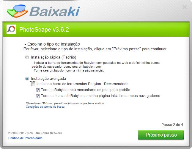 PORTUGUES FOTO BAIXAR SCAPE GRATIS EM