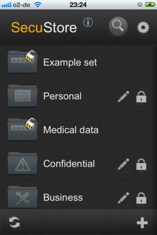 SecuStore - Imagem 1 do software