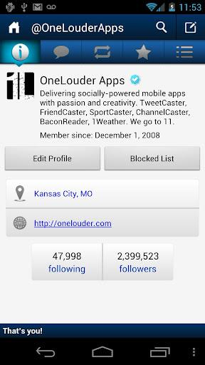 TweetCaster Pro for Twitter - Imagem 2 do software