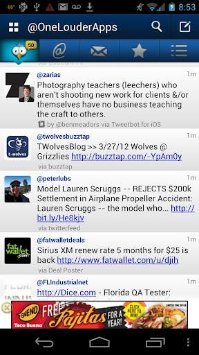 TweetCaster Pro for Twitter - Imagem 3 do software
