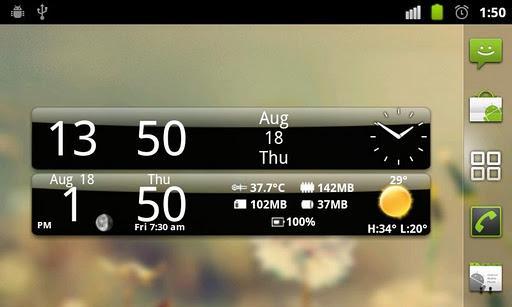 Smoked Glass Weather Clock - Imagem 1 do software