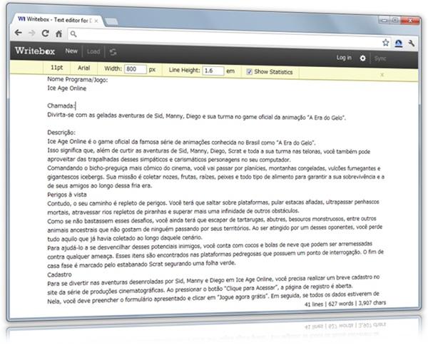 Writebox - Imagem 1 do software