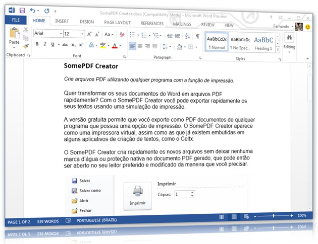 Microsoft Office 2013 - Imagem 1 do software