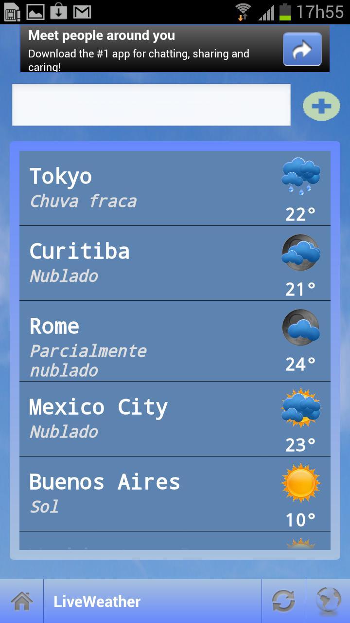 Live Weather - Imagem 2 do software