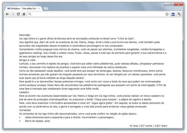 Writebox - Imagem 2 do software