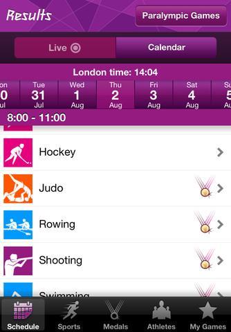 Londres 2012: Aplicativo dos resultados oficiais dos Jogos Olímpicos - Imagem 1 do software