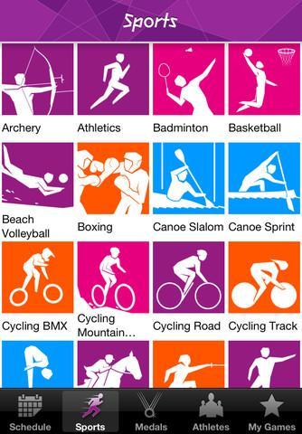 Londres 2012: Aplicativo dos resultados oficiais dos Jogos Olímpicos - Imagem 2 do software