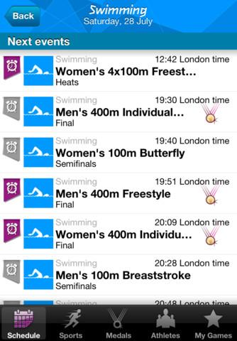Londres 2012: Aplicativo dos resultados oficiais dos Jogos Olímpicos - Imagem 3 do software