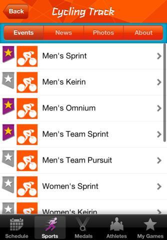Londres 2012: Aplicativo dos resultados oficiais dos Jogos Olímpicos - Imagem 4 do software