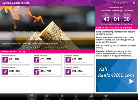 Londres 2012: Aplicativo dos resultados oficiais dos Jogos Olímpicos - Imagem 5 do software