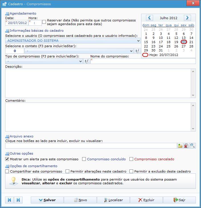 Agenda Eletrônica - Imagem 2 do software