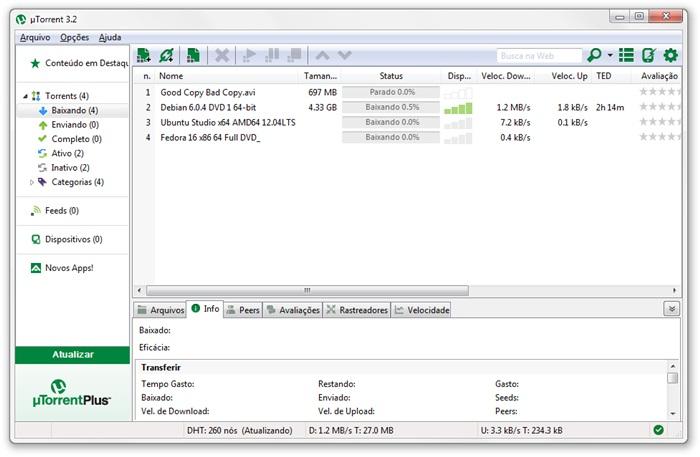 uTorrent e sua nova interface