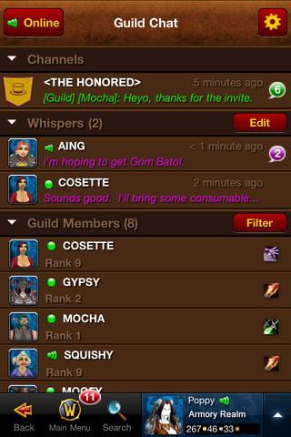 World of Warcraft Mobile Armory - Imagem 2 do software