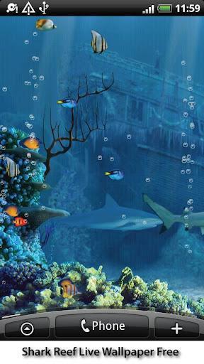 Shark Reef Live Wallpaper Free - Imagem 2 do software