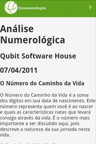 Q Numerologia - Imagem 2 do software