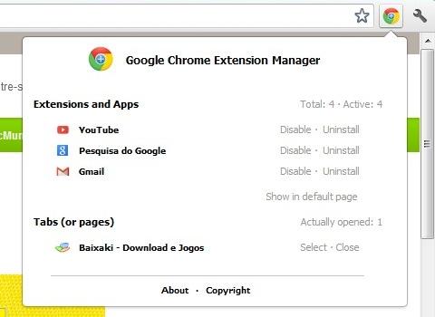 Google Chrome Extension Manager Download para Windows Grátis