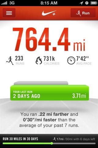 Nike+ Running - Imagem 1 do software