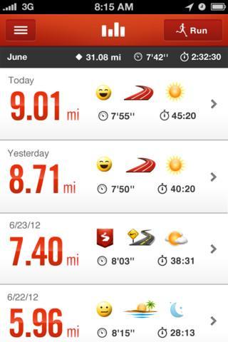 Nike+ Running - Imagem 2 do software