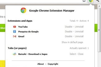 Google Chrome Extension Manager Download para Windows Grátis