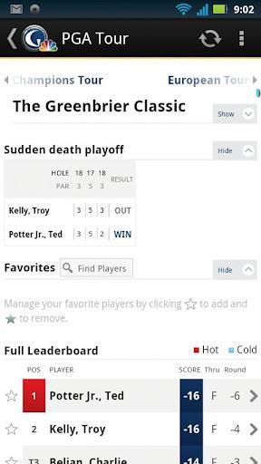 Golf Channel Mobile - Imagem 2 do software