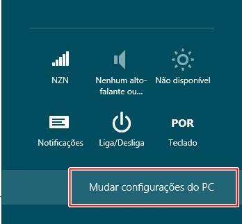 Abrindo as configurações do computador
