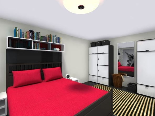 Projete cômodos completos e decorados