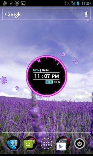 Glowing Neon Clock Widget - Imagem 1 do software