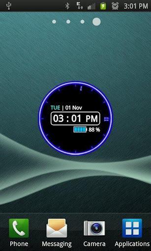 Glowing Neon Clock Widget - Imagem 2 do software