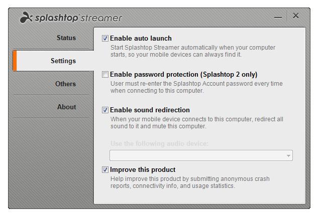 Splashtop Remote Desktop for iPhone & iPod - Imagem 1 do software
