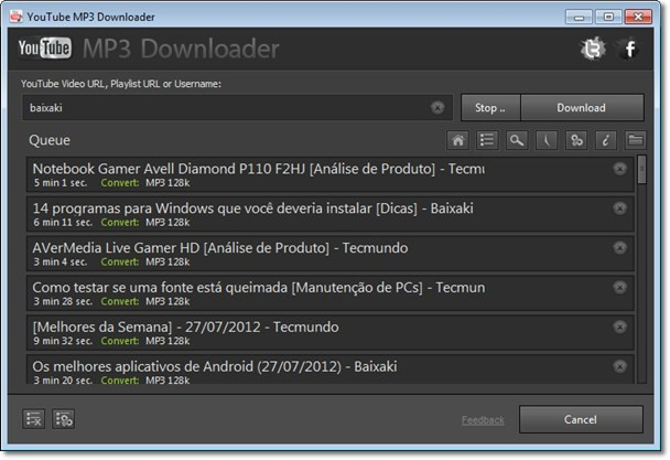 Major Share YouTube MP3 Downloader.